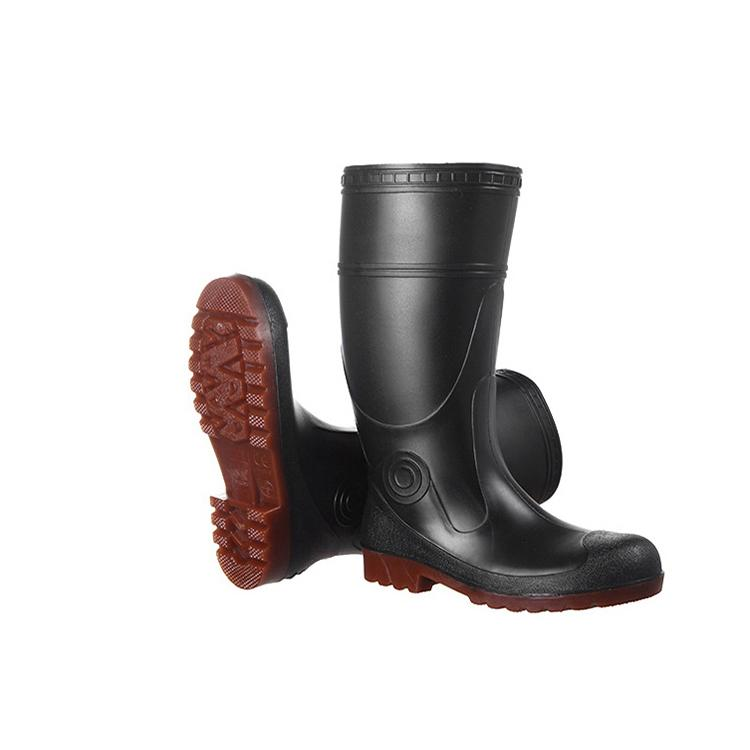 Men Work Safety Rain Boots PVC Gum Boots With Steel Toe 5