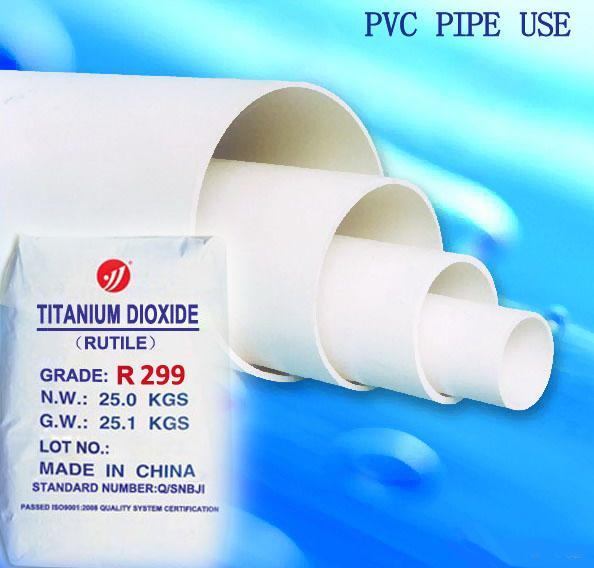 PVC profiles use R299 rutile TiO2 pigment for masterbatch and plastics 3