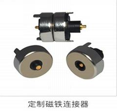 厂家生产 智能穿戴磁性数据线 吸附式 磁吸连接器 圆形磁吸充