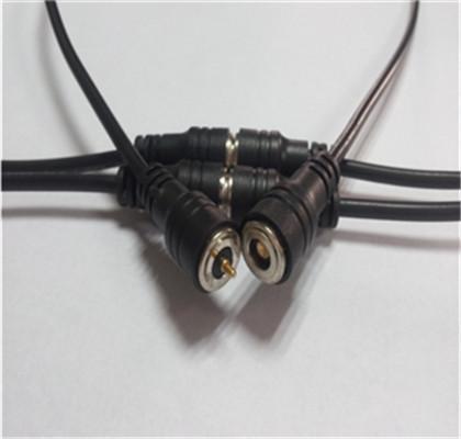 供应移动电源2P磁力充电线 吸附式直头磁吸线对吸接头端子线 1