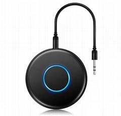 圓形無線藍牙接收器4.1帶免提通話適配器