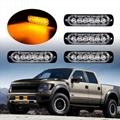 6 LED Amber Flashing Emergency Hazard Side strobe marker lights for Car Truck  4