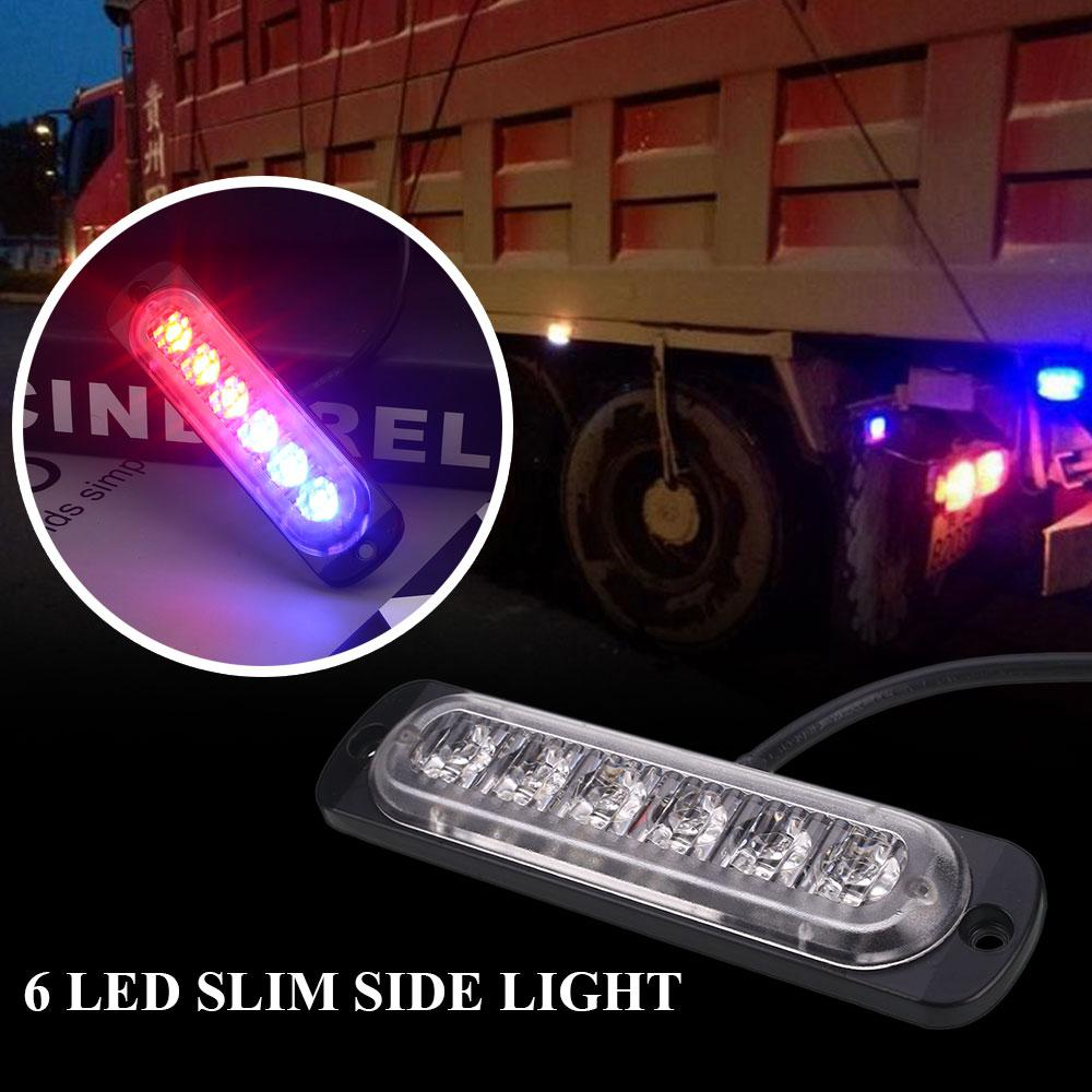 6 Led Amber Flashing Emergency Hazard Side Strobe Marker Lights For How To Build High Intensity Warning Flasher Car Truck 5