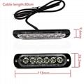 6 LED Amber Flashing Emergency Hazard Side strobe marker lights for Car Truck  2