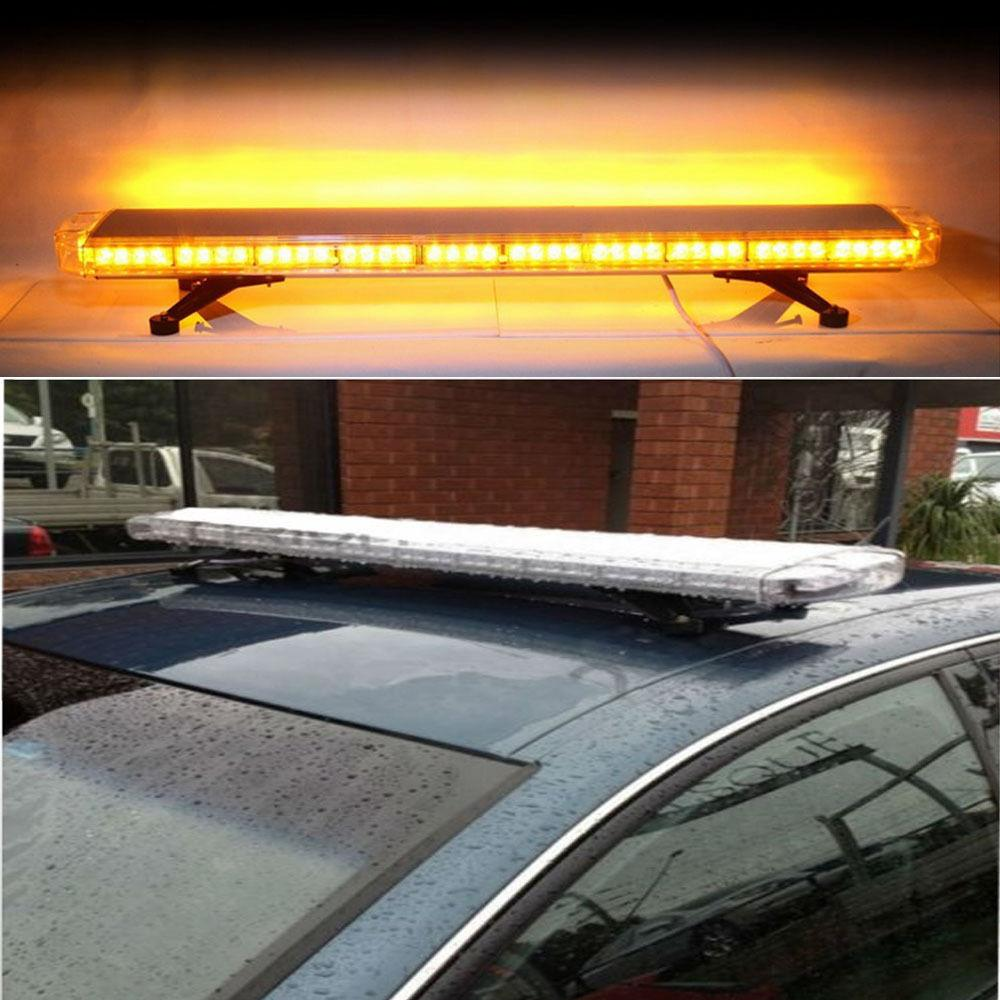 "High Power 88W 47"" 88LED Emergency Warning Beacon car truck strobe light Bar 5"