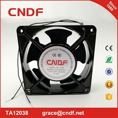 industrial fan with 2 years warranty and CE 120x120x38mm 110VAc sleeve bearing