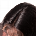 """16"""" indian human hair straight full lace wigs 3"""