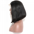 """16"""" indian human hair straight full lace wigs 4"""