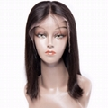 """16"""" indian human hair straight full lace wigs 5"""