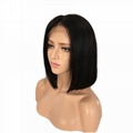 """12"""" straight remy indian human hair full lace wigs 1"""