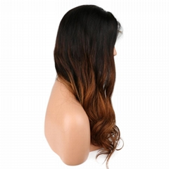 "20"" remy indian human hair body wave full lace wigs"
