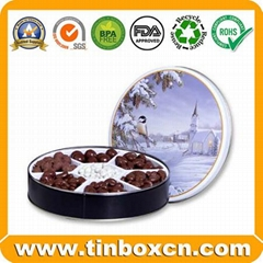 Metal Can Chocolate Tin Box