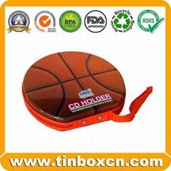 DVD Metal Tin Case CD Tin Box With Sling