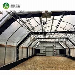 American standard automatic light deprivation sliding blackout greenhouse