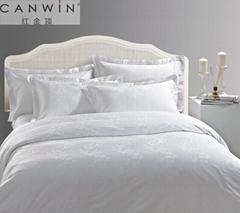 hotel jacquard linen hotel bedding set