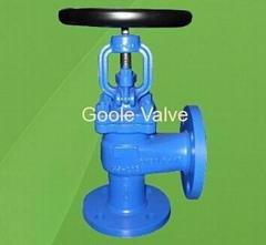 DIN Angle Type Globe Valve