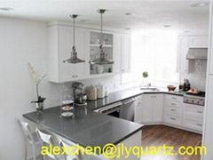 Kimria quartz  special promotion pure grey kitchen top