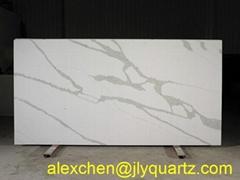 Kimria quartz  2018 new arrival  white calacatta kitchen top