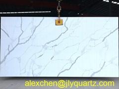 Kimria quartz  ten years experience white calacatta kitchen top