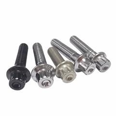 M7 carbon stainless steel auto wheel split rim assembly 12 point cap flange bolt