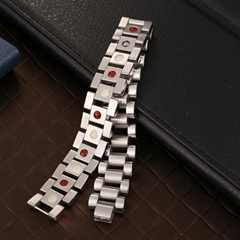 high fashion stainless steel band men si  er jewelry magnetic bracelet