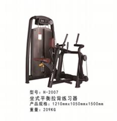 力量器械厂家直销坐式平衡拉背练习器