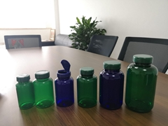 PET thick bottle with flip top caps 150ml to 750ml