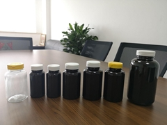 PET thick bottles with tearing cap, 150ml to 750ml