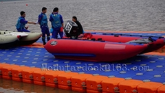 xinyi plastic pontoon floating dock for sale