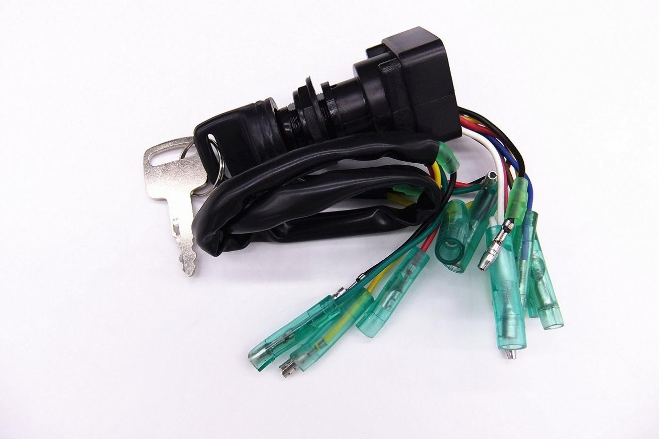 Ignition Switch Assy 703-82510-43-00 for Yamaha Outboard Motor Control Box + Key 1