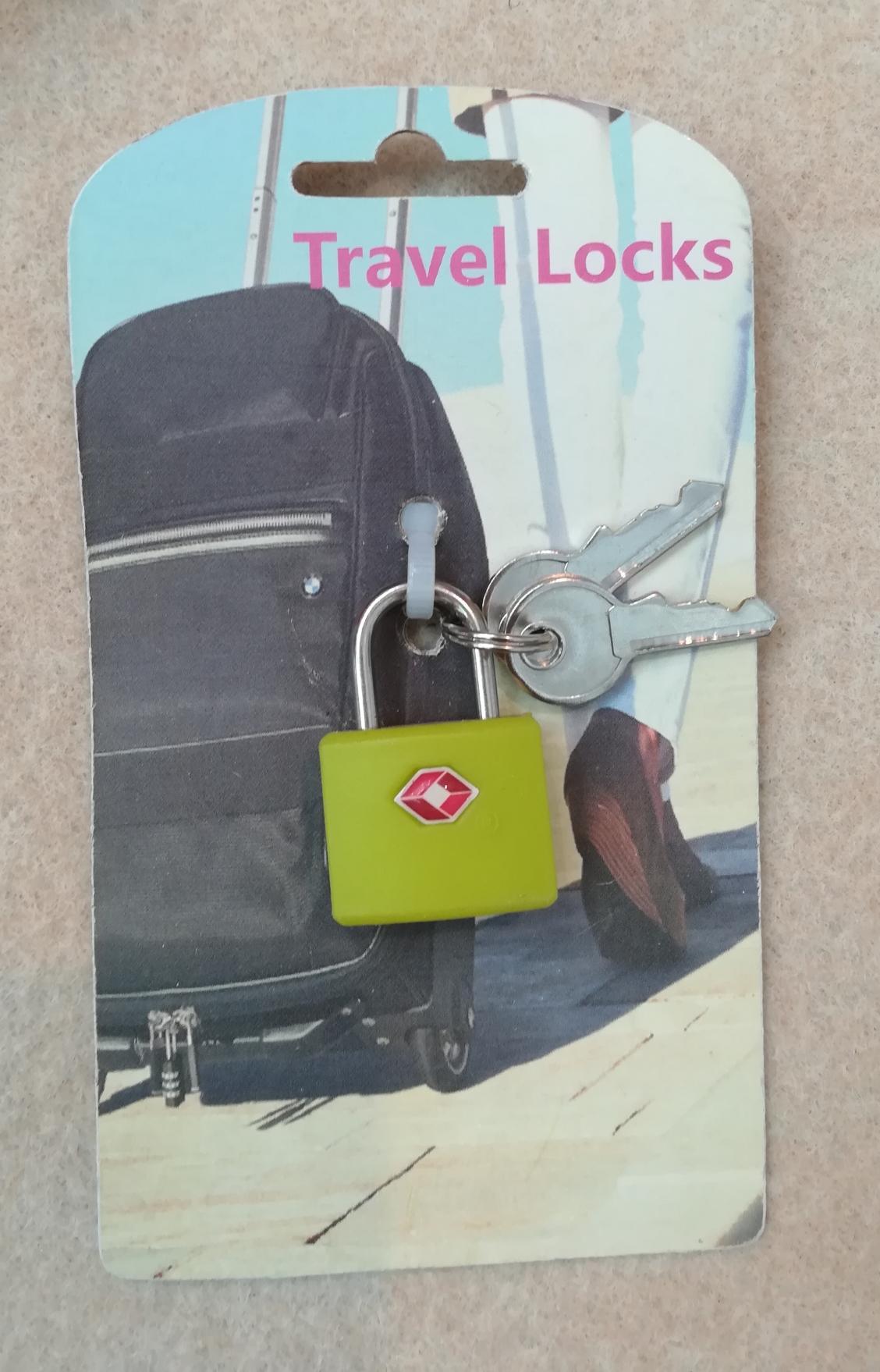 Travel lock with key 1