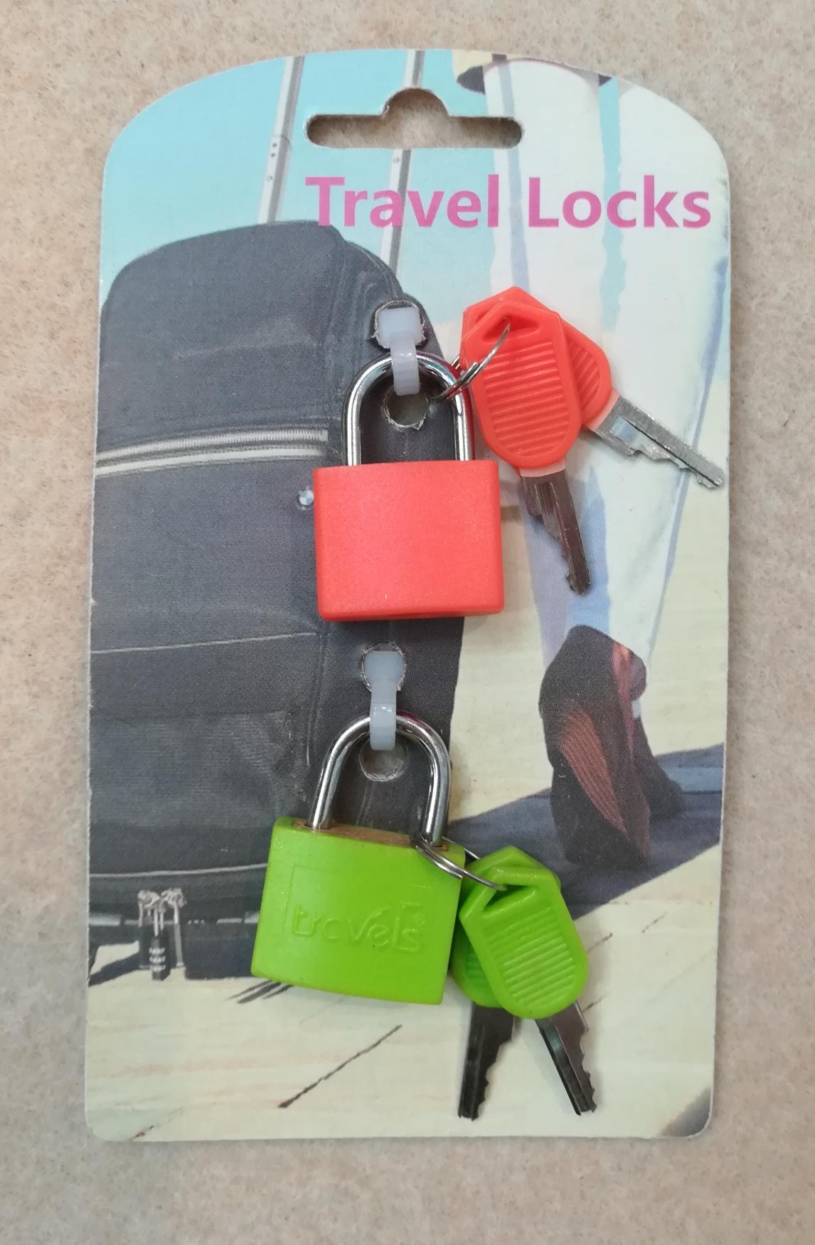 2 Piece Travel Lock Set with Key  1