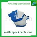 Customized Printed Blue White Custom