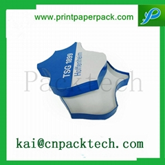 Customized Printed Blue White Custom Shape Paper Box for Packing