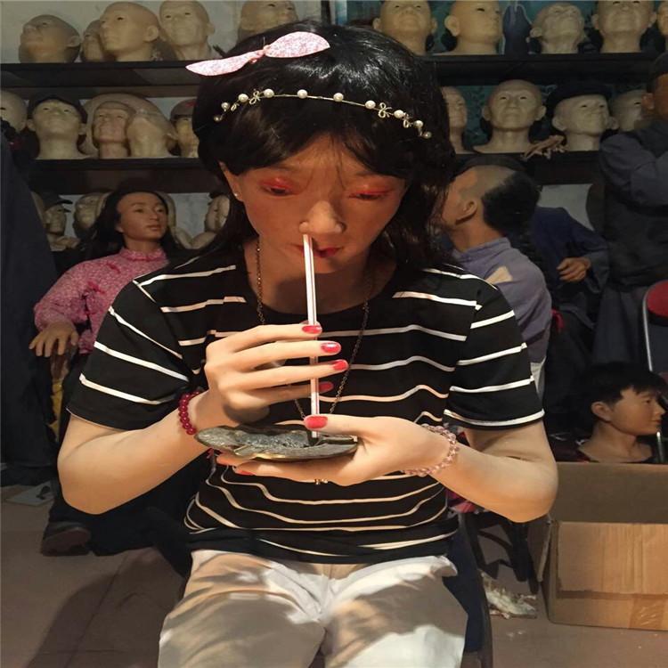 禁毒教育基地场景禁毒蜡像禁毒人体  展示 4