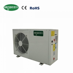 Mini split domestic heat pump water heater