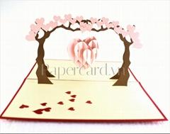 BT100-love tree-3D-pop up card-greeting card-ninrio-valentine card-wedding card