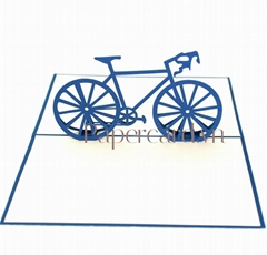 cyclist-3d-pop up card-greeting card-origamiccard