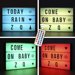 LED color change marquee light box with remote control