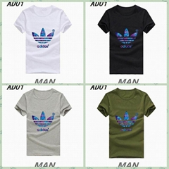 Hot selling adidas T-Shirt  Men Fashion T-Shirt chothing 100% cotton T-Shirt