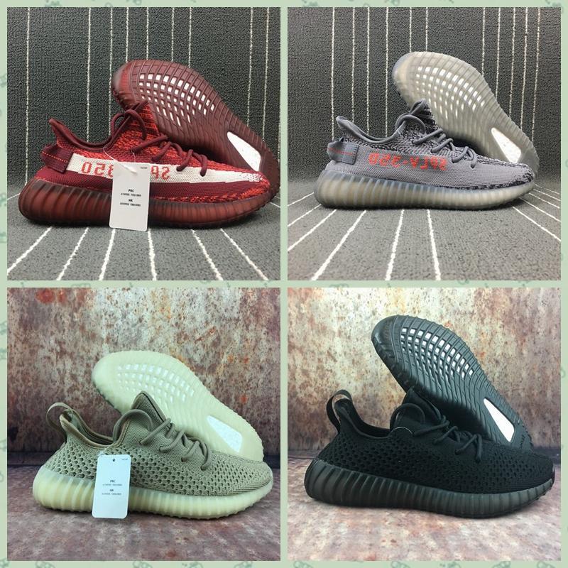 Wholesale 1:1 top quality  adidas yeezy 350v2 Boost x supreme men shoes women  5