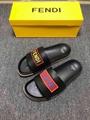2019 new Fendi sandals Fendi slipper Fendi Pearland FF Leather Slide FF Flat