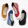 Vans shoes High-tops canvas shoes with mandarin duck checkerboard pattern