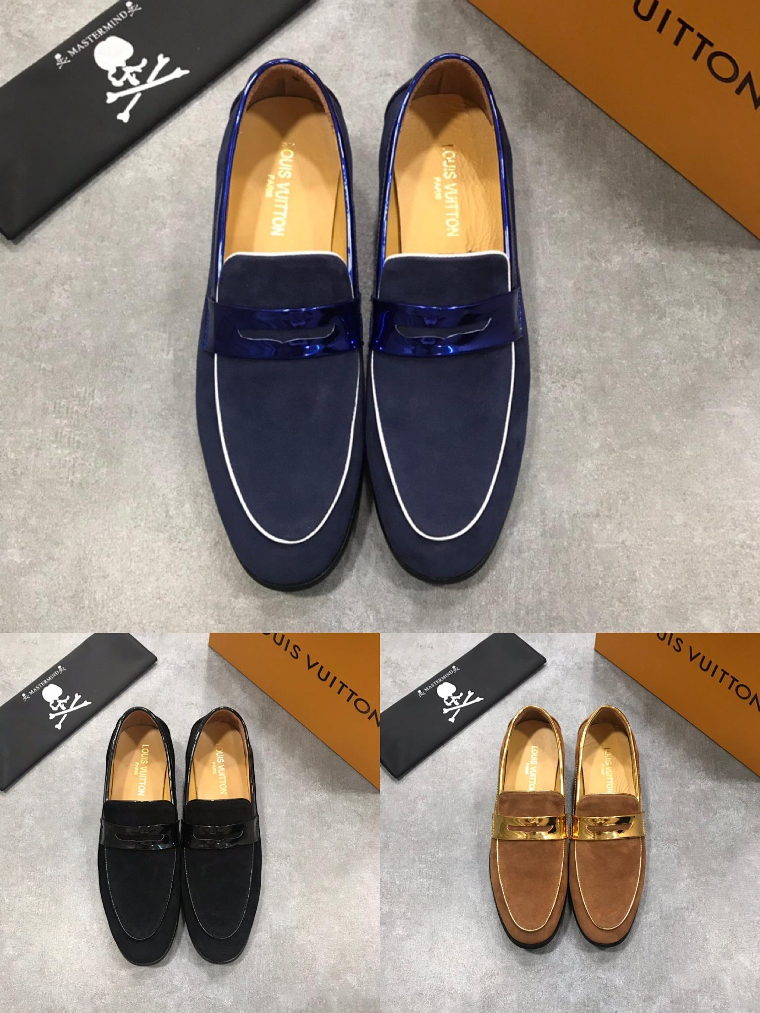 2019 New Louis Vuitton shoes LV men shoes leather shoes fashion brand shoes top