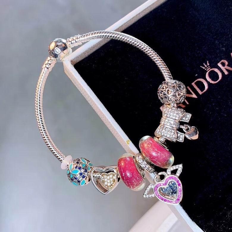 New Arrive Pandora 925 Sterling Silver Green Crystal Charm bracelets 1