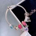 New Arrive Pandora 925 Sterling Silver Green Crystal Charm bracelets