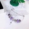 New Arrive Pandora 925 Sterling Silver Green Crystal Charm bracelets 2