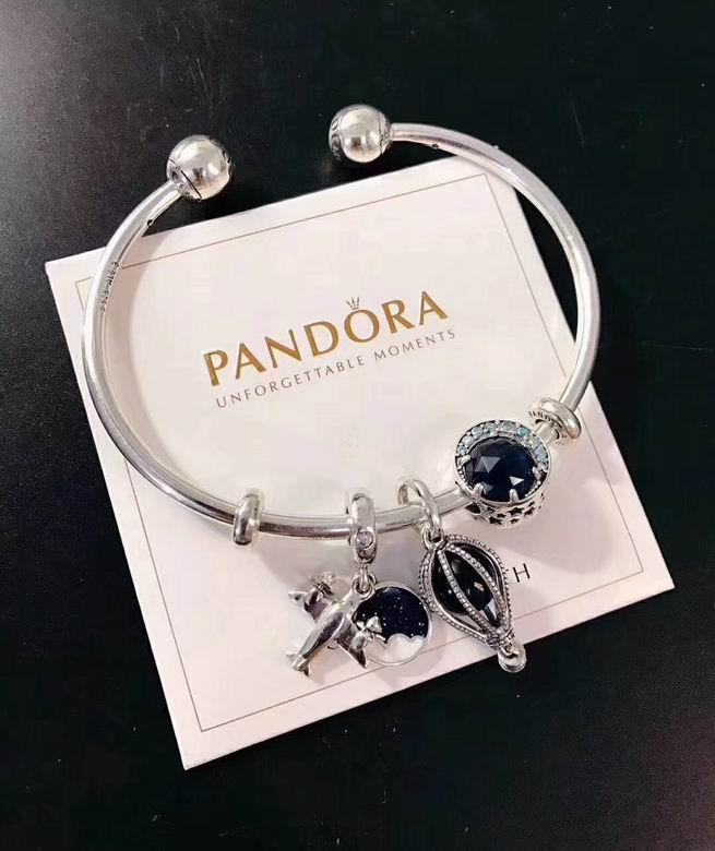 New Arrive Pandora 925 Sterling Silver Green Crystal Charm bracelets 16