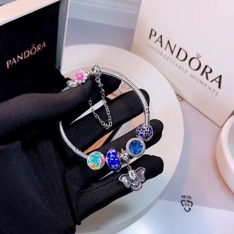 New Arrive Pandora 925 Sterling Silver Green Crystal Charm bracelets 17