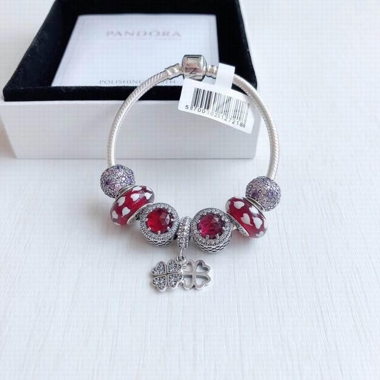 New Arrive Pandora 925 Sterling Silver Green Crystal Charm bracelets 19